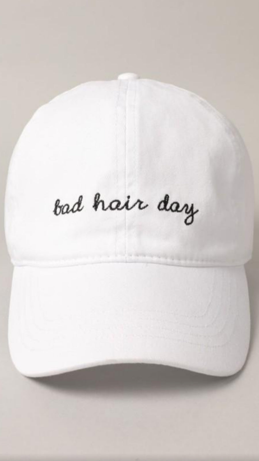 Bad Hair Day Baseball Cap - White