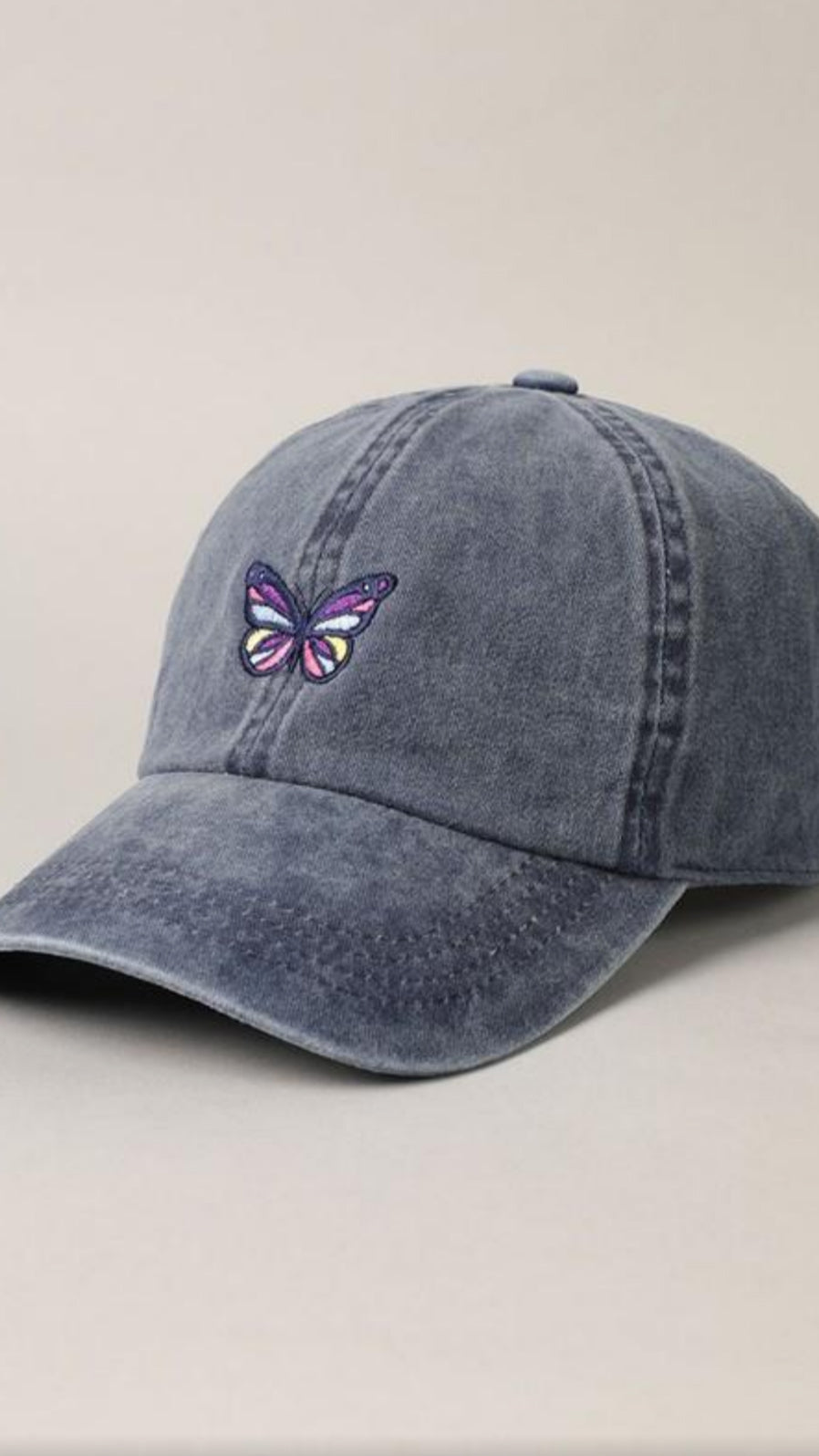 Butterfly Baseball Cap - Navy