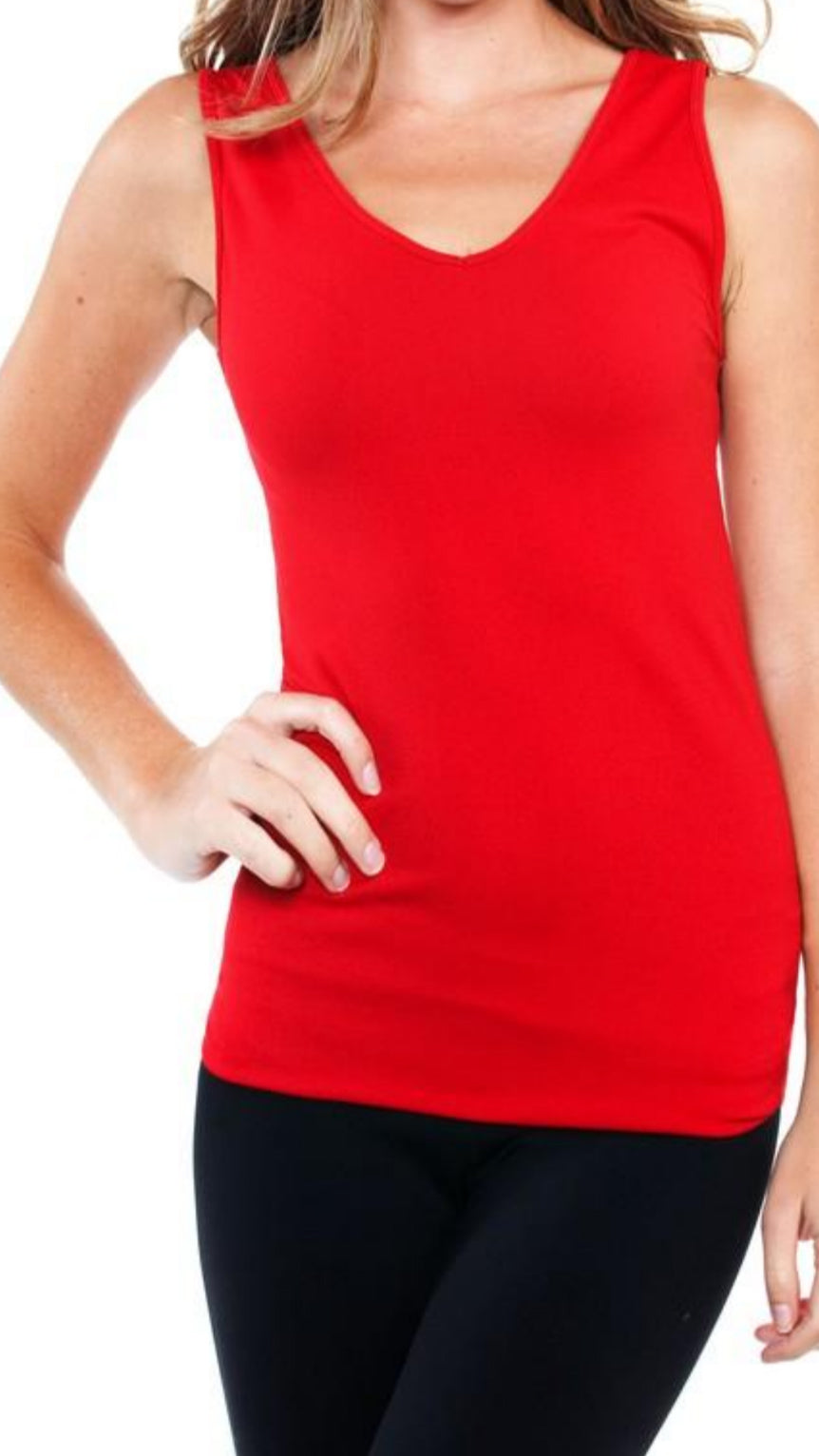 Seamless Tank - Red
