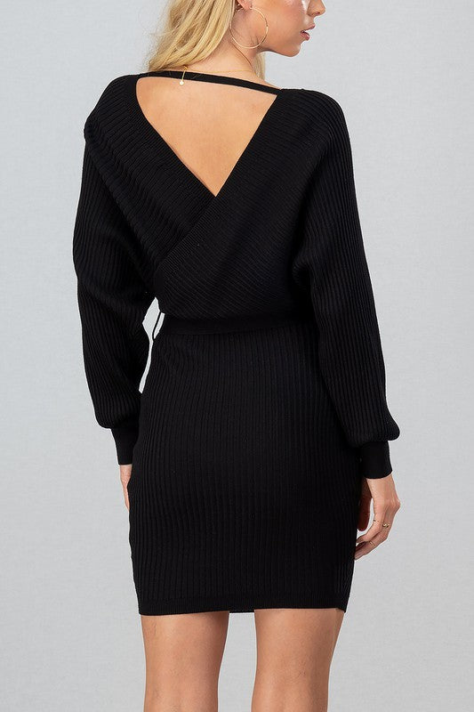 Sophiana Knit Dress - Black - OWN YOUR ELEGANCE
