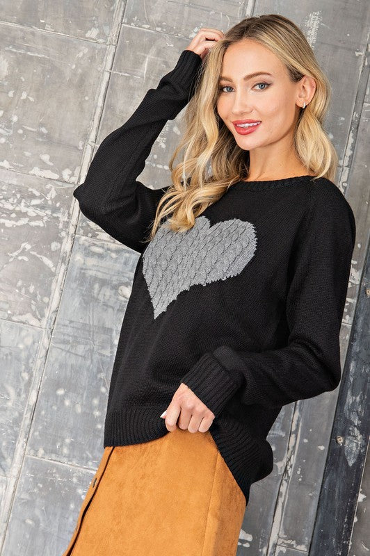 Love Her Sweater - Black.