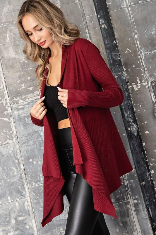 Hayley Cardigan - Wine - OWN YOUR ELEGANCE