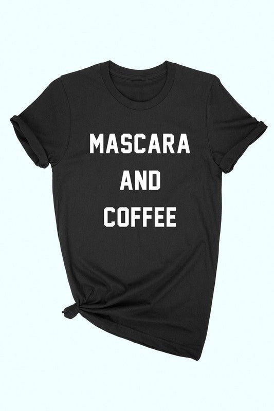 Mascara & Coffee T-Shirt - OWN YOUR ELEGANCE
