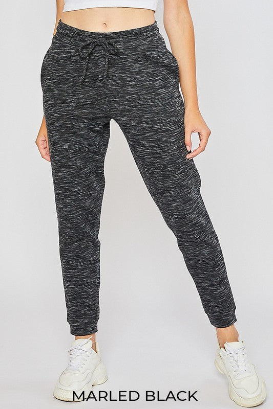 Marbled Black Joggers - OWN YOUR ELEGANCE