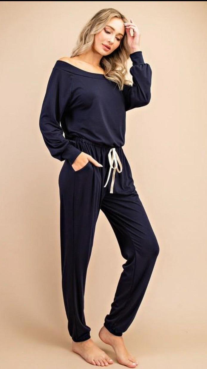 Jennifer Jumpsuit - Navy - OWN YOUR ELEGANCE