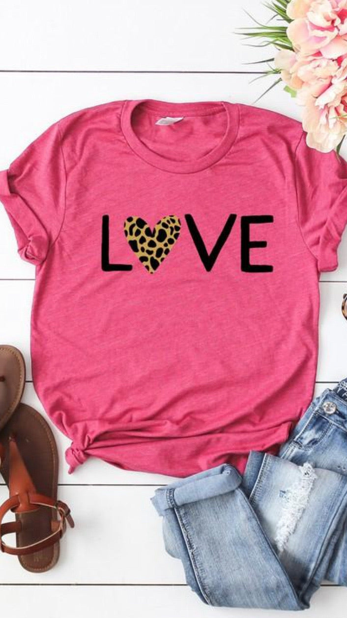 Leopard Love T-Shirt - OWN YOUR ELEGANCE