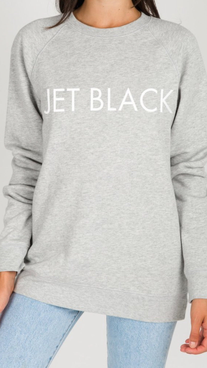 Brunette The Label - Classic Crew - Jet Black.