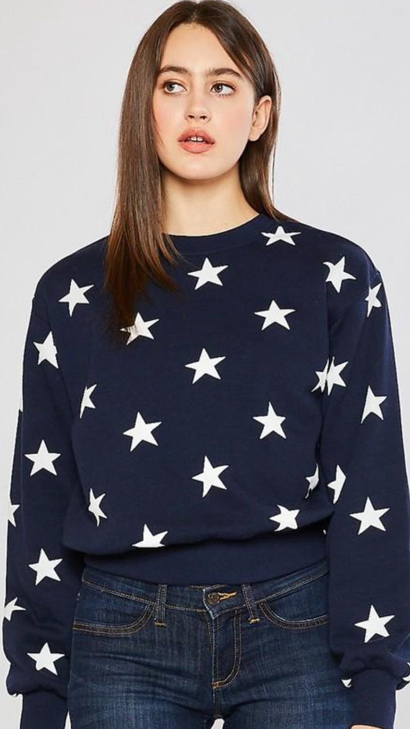 Star Sweatshirt- Navy