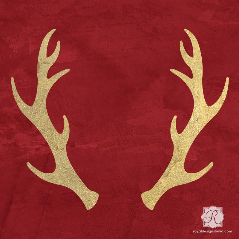 Antlers Christmas Stencil