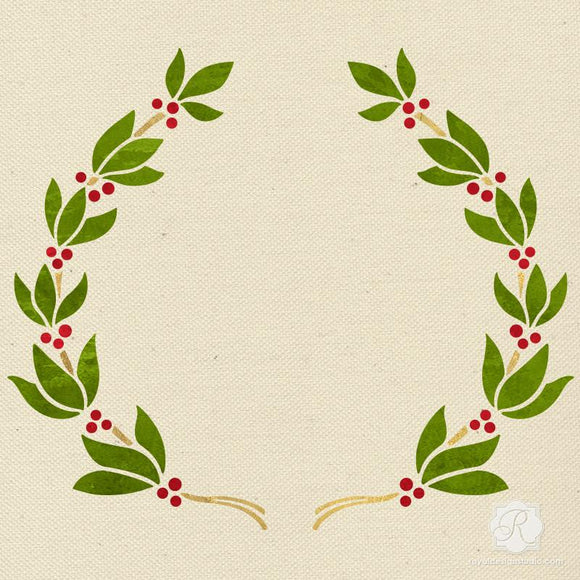 Holiday Garland Christmas Stencil