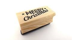 Rubber Stamp - Merry Christmas