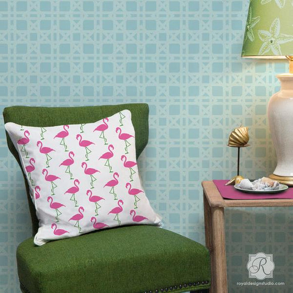 Flamingo Deco Furniture Stencil