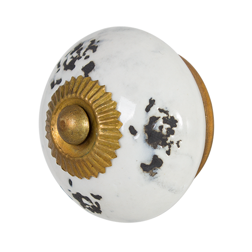 Ceramic Cabinet Knob - Antique White