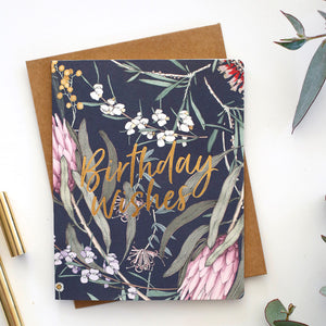 Letterpress Greeting Card - Native Birthday Wishes