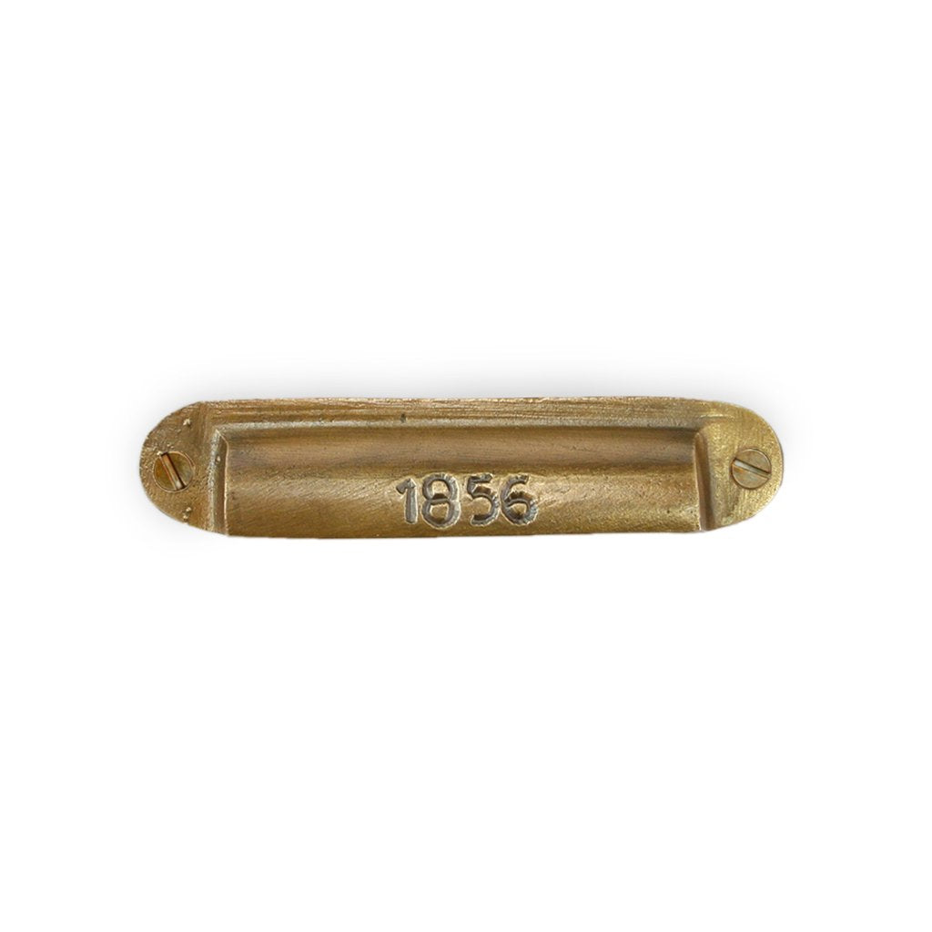 Curio Drawer Pull - brass