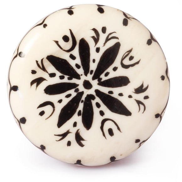 Hand Painted Bone Knob