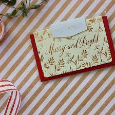Christmas Mini Greeting Card - Merry and Bright - Mint