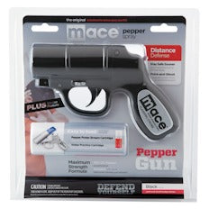 Mace Pepper Gun Distance Defense Spray with STROBE LED