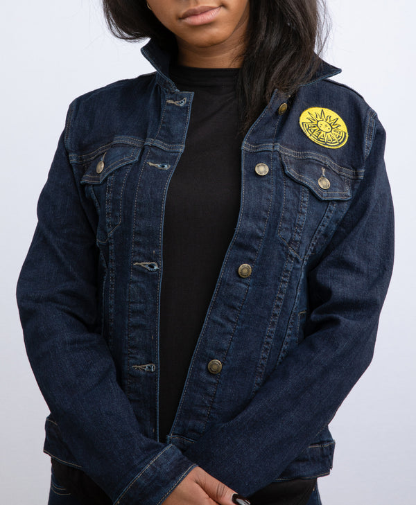 Cirque du Soleil Women Patch Denim Jacket