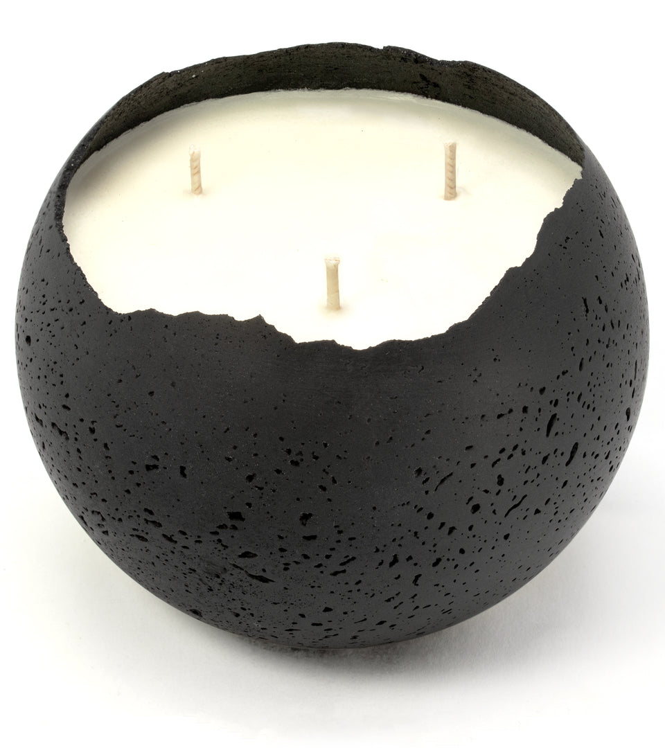 XL Orbis 3-Wick Concrete Candle - Black