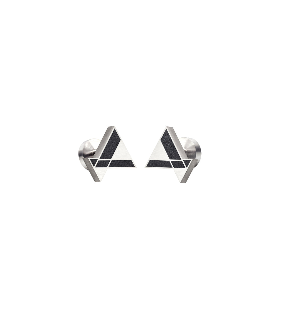 Imperial Hotel - Triangle Concrete Cufflinks