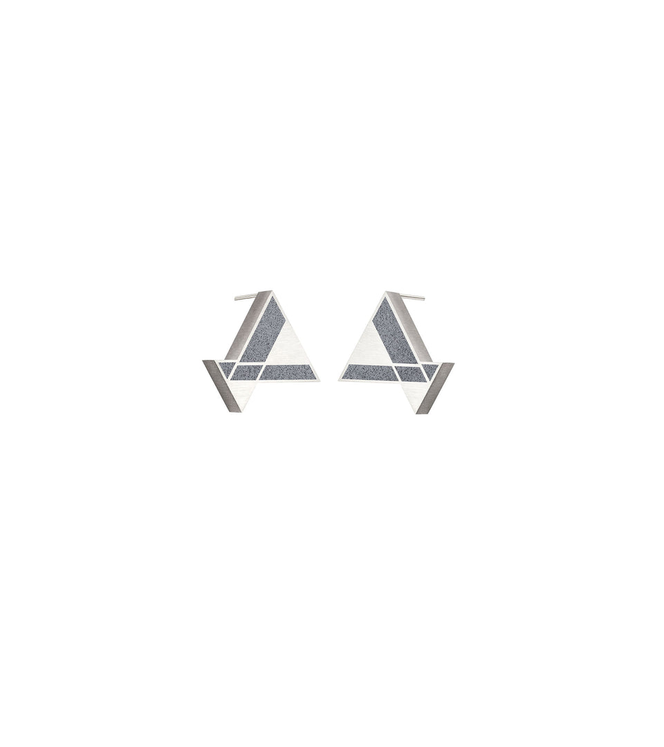 Imperial Hotel - Concrete Earring Triangle Studs