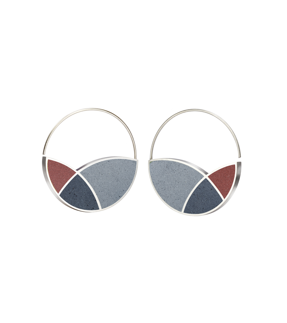 March Balloons - Concrete Hoop Earrings 2