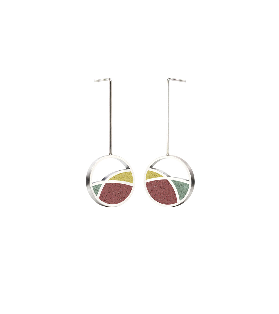 March Balloons - Small Concrete Earring Drops