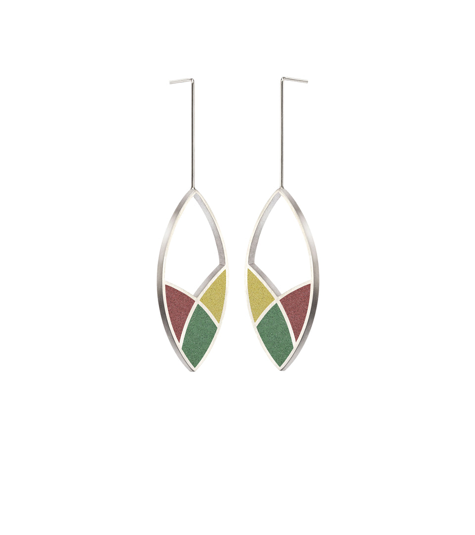 March Balloons - Leaf Concrete Earring Drops 4