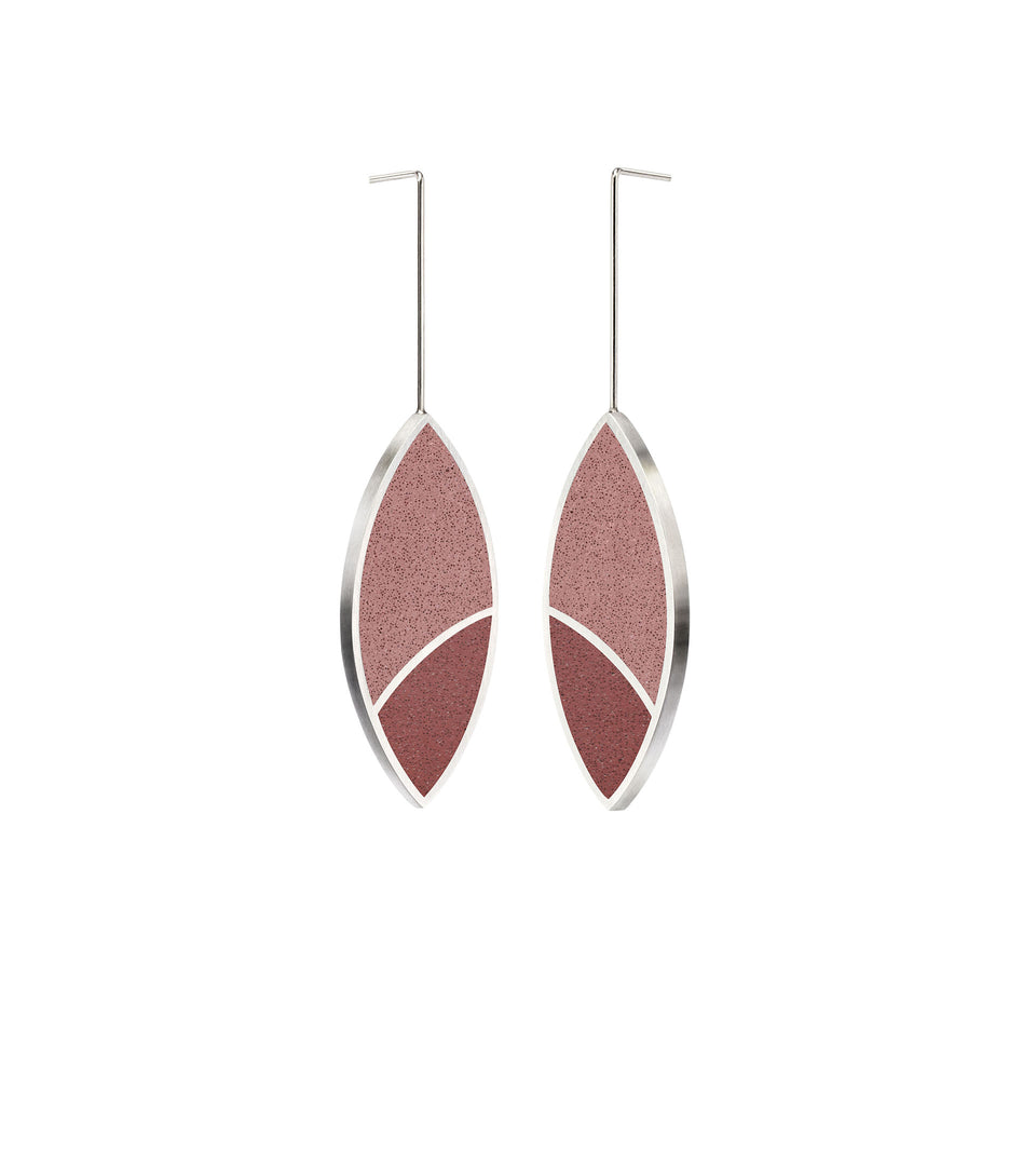 March Balloons - Leaf Concrete Earring Drops 2