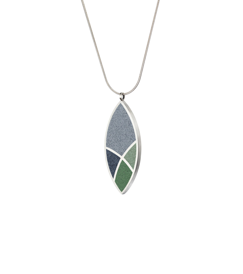 March Balloons - Leaf Concrete Necklace 3
