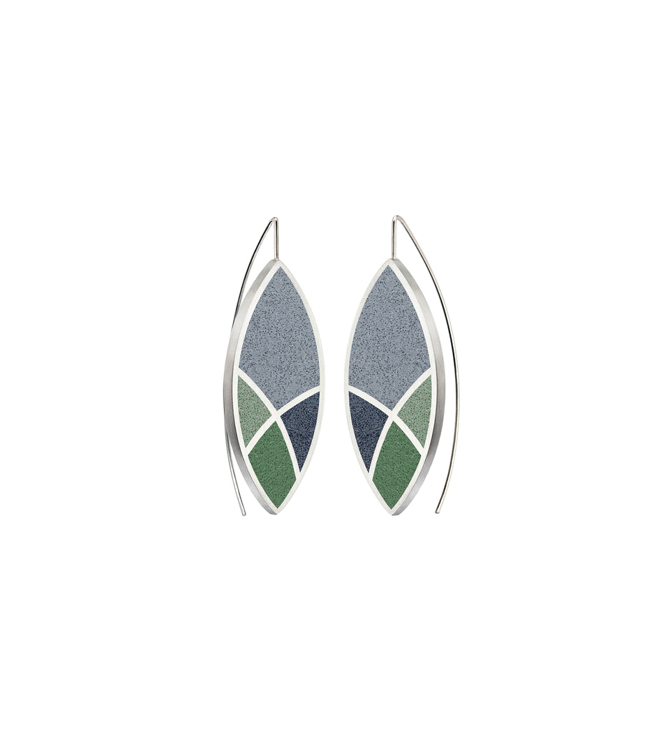 March Balloons - Leaf Concrete Earring Drops 3
