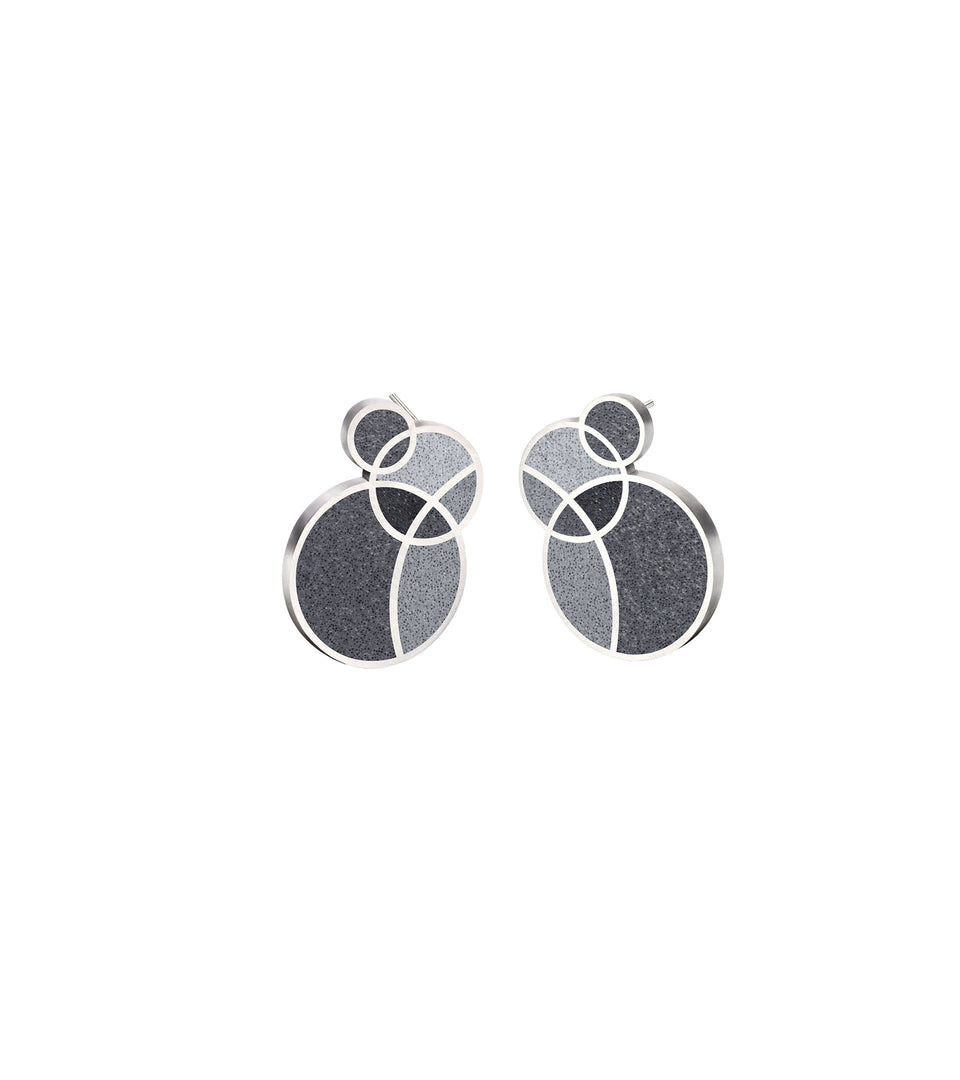 March Balloons - Small Concrete Earring Studs
