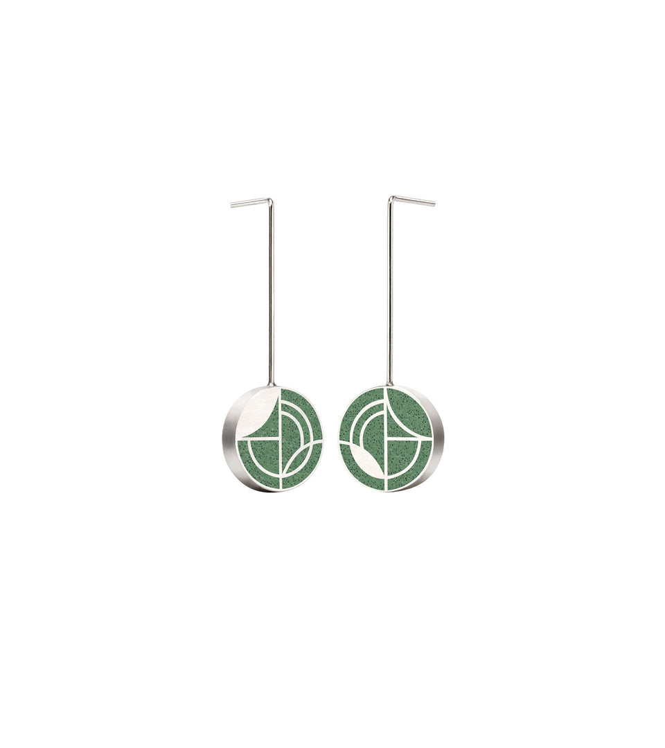 Saguaro - Small Concrete Earring Drops