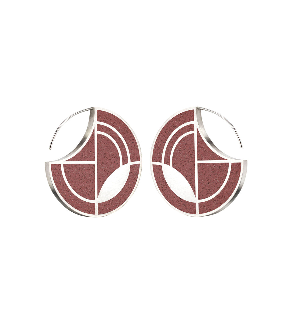 Saguaro - Concrete Earring Hoops 1