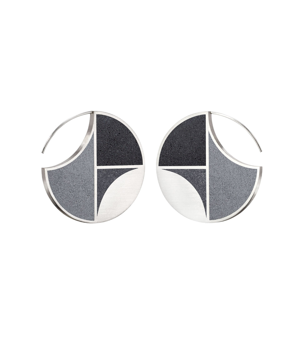 Saguaro - Concrete Earring Hoops 2