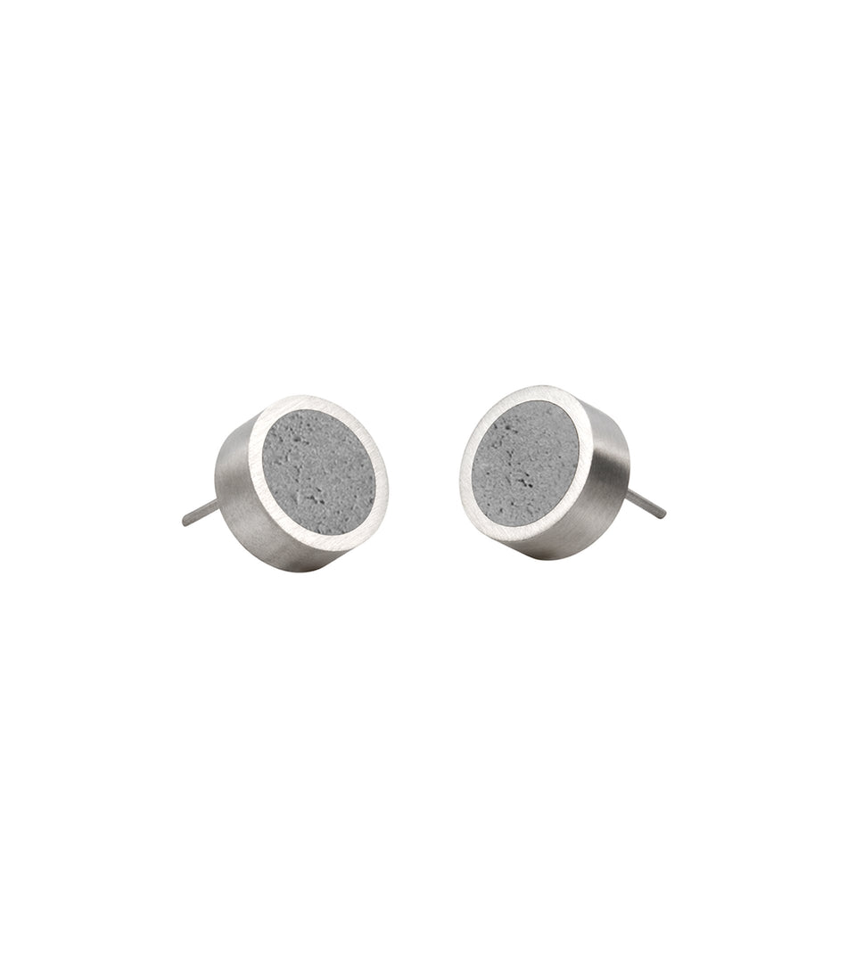 KMe171 Concrete Stud Earrings