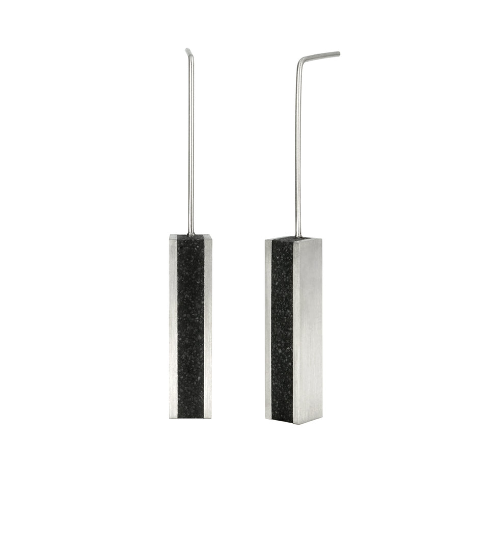 KMe173 Concrete Drop Earrings