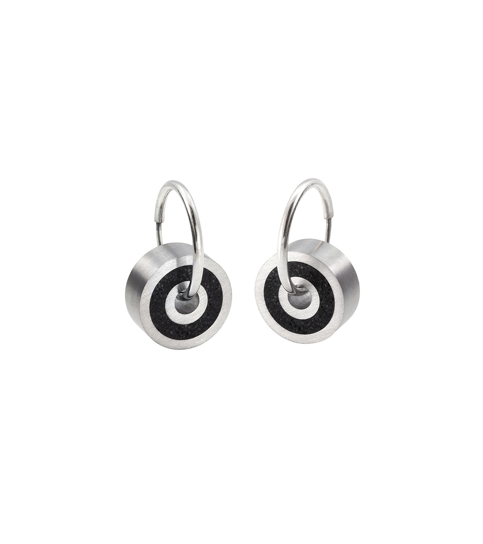 KMe176 Concrete Hoop Earrings