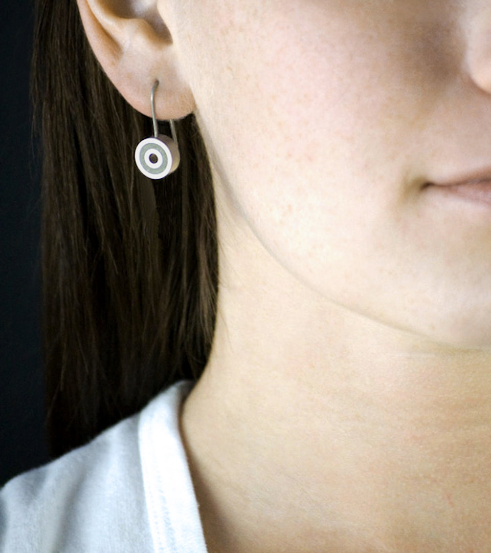 KMe177 Concrete Drop Earrings