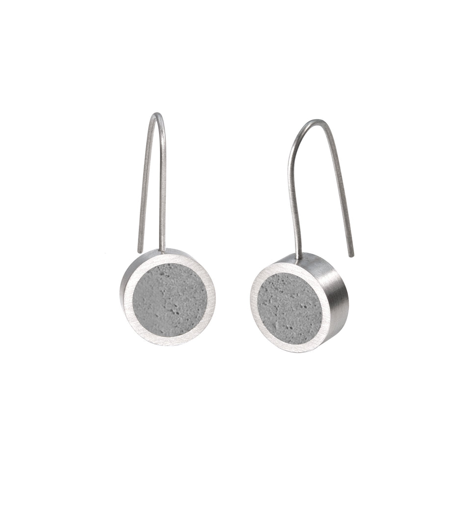 KMe178 Concrete Drop Earrings