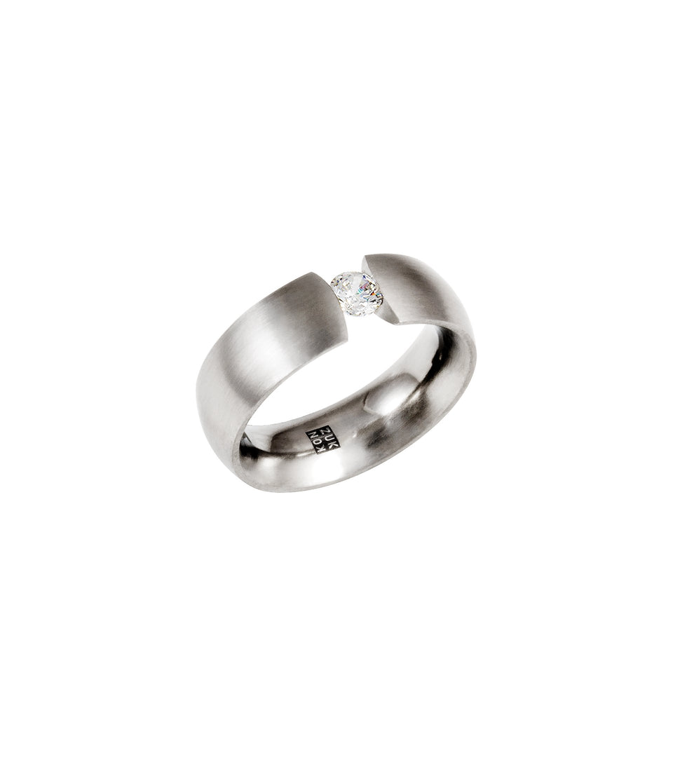 KMr176d Facet Engagement Ring