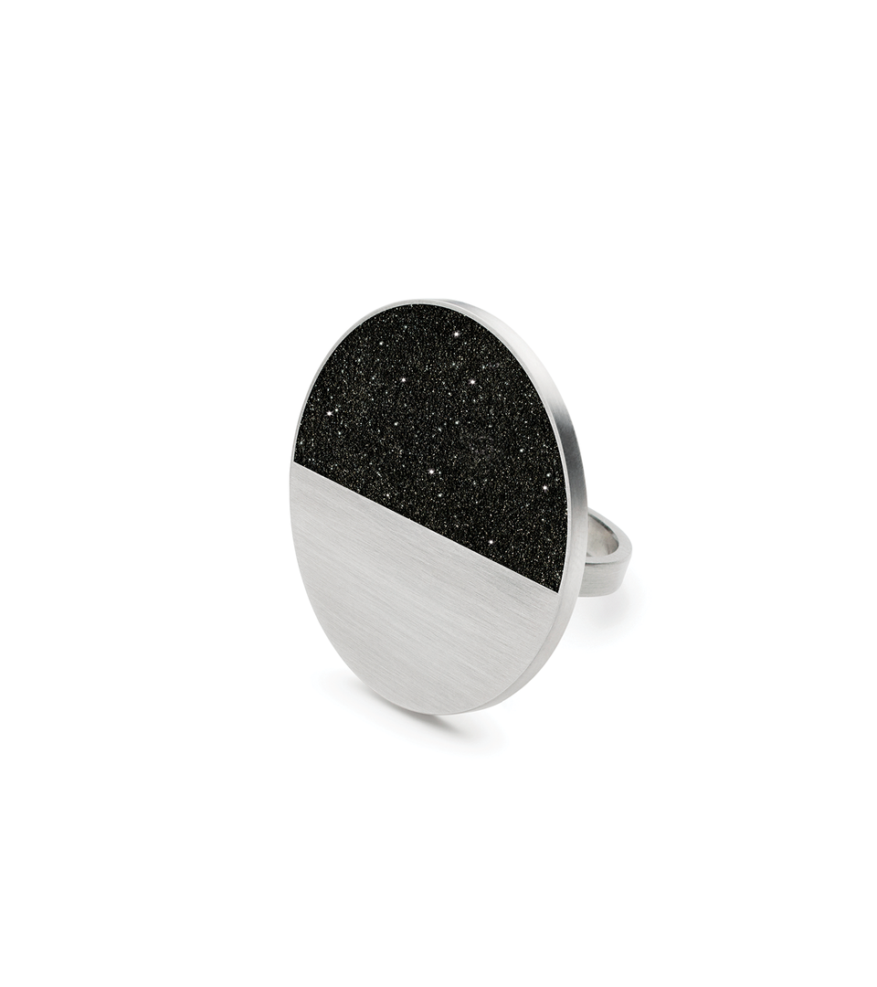 Make a statement with the Cephei Major diamond dust infused concrete set into a stainless steel ring.