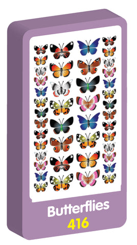 Butterflies Stickers Purple Peach Stickers