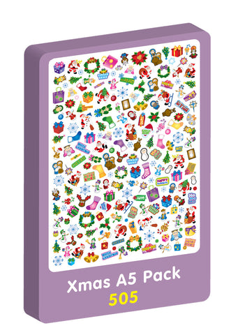 A5 Xmas sheets Purple Peach Stickers