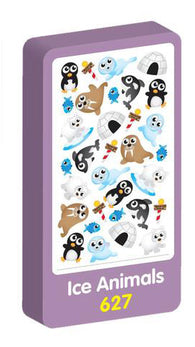 Ice Animals Stickers Purple Peach Stickers