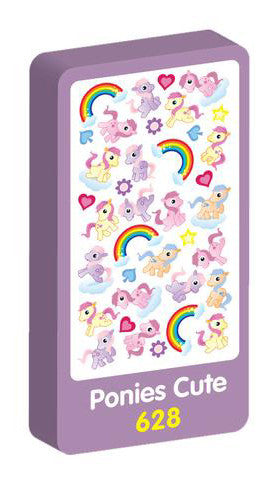 Ponies Cute Purple Peach Stickers