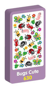 Bugs Cute Stickers Purple Peach Stickers