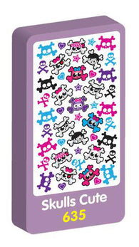 Skulls Cute Stickers Purple Peach Stickers