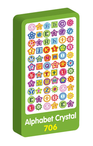 Alphabat Crystal Purple Peach Stickers